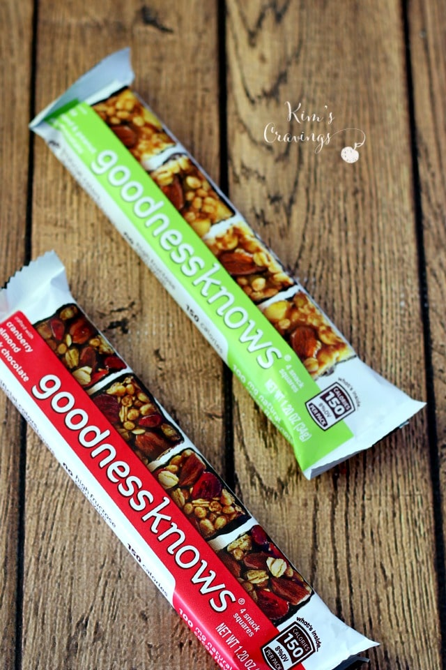 goodnessknows®snack squares- crafted with real fruit, dark chocolate and whole nuts in bite-size portions, it's a great way to do something good for ourselves!