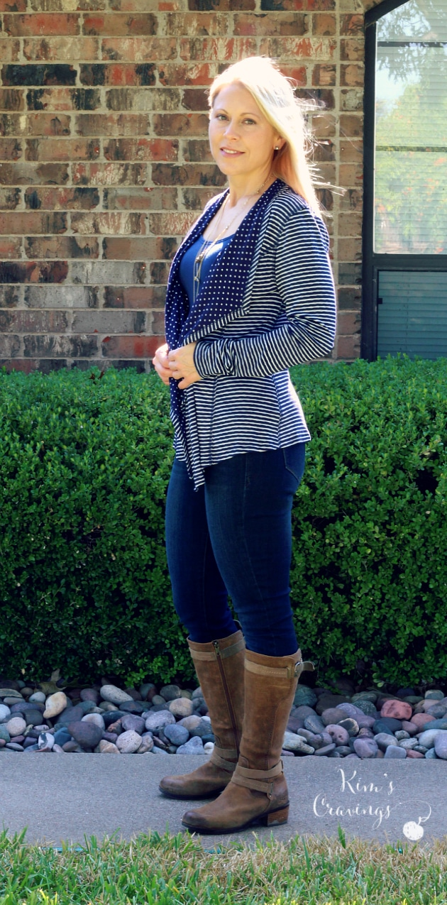 Margerie Stripe and Dot Open Cardigan by Market & Spruce | X-Small | $68 | Keep for Stitch Fix