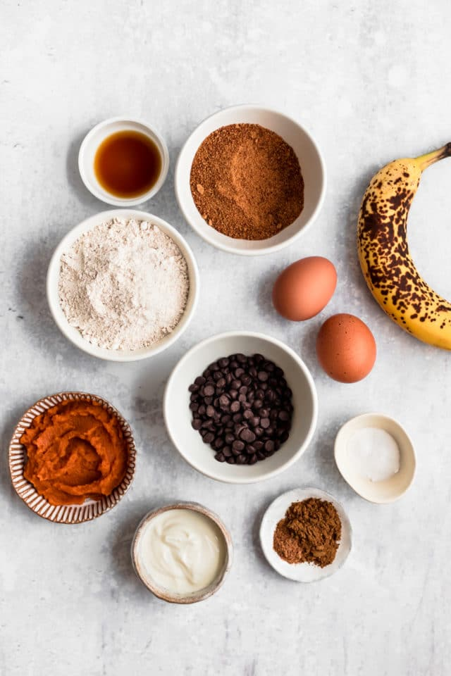 ingredients for pumpkin muffins