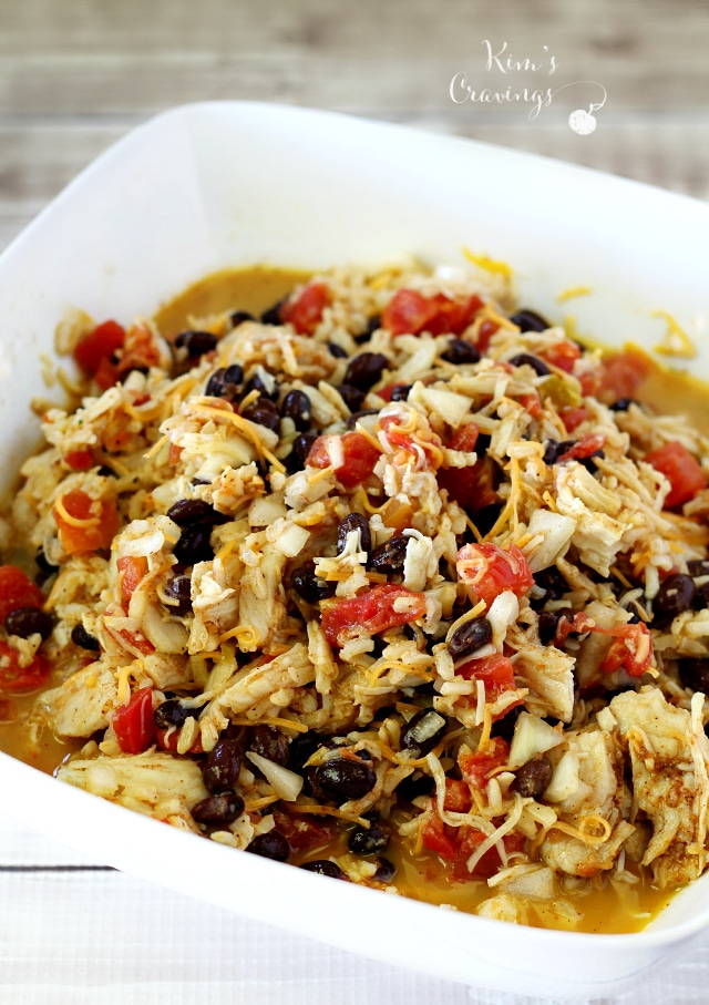 This recipe is as basic as they come- stir everything together in a large mixing bowl, transfer the mixture to a casserole dish and you're just 25 minutes away from a warm, guilt-free entree that will please the whole family.