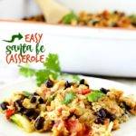 Hands down, the easiest, most flavor, crowd-pleasing dish- this Santa Fe Casserole will have you in and out of the kitchen in a flash!