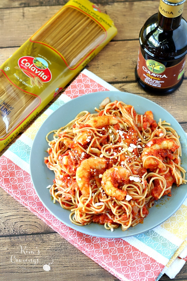 Shrimp Pasta in Creamy Tomato Sauce is an easy recipe and a major comfort food perfect for enjoying during the holiday season!