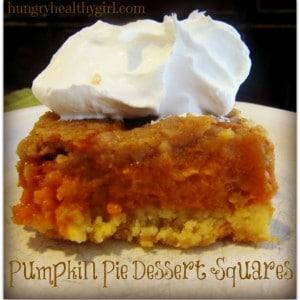 Pumpkin Dessert Squares