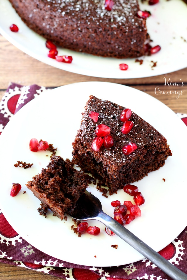 Whole Wheat Chocolate Olive Oil Cake- rich, luscious and absolutely irresistible! Made healthier with whole wheat flour, Greek yogurt and extra virgin olive oil.