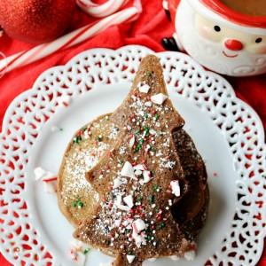 If you're looking for an extra special breakfast for Christmas morning, these Peppermint Mocha Pancakes are a must make.