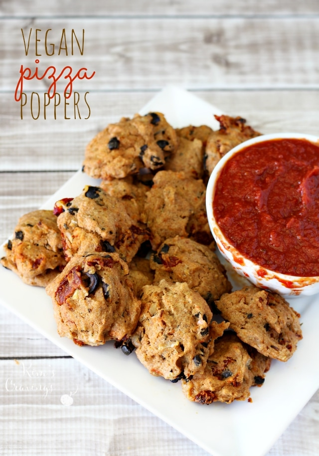 Pizza Poppers- vegan gems of deliciousness that are so simple and taste absolutely incredible! You won't be able to pop just one!