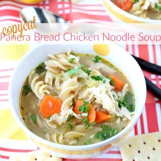 Copycat Panera Bread Chicken Noodle Soup
