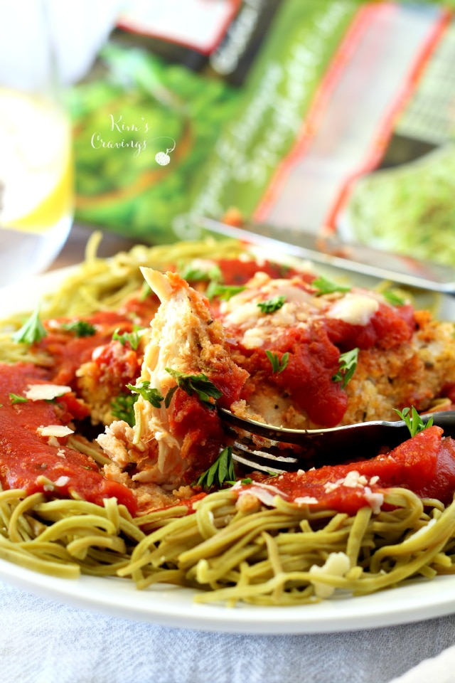 Quick and easy Chicken Parmesan is a classic Italian favorite made healthier in this recipe by baking instead of frying. Don't worry, though, my Skinny Chicken Parmesan is still as tasty, crispy and family-friendly as the original! #glutenfree