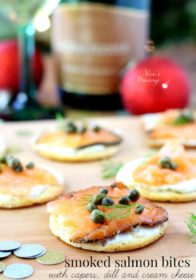 Smoked Salmon Bites with capers, dill and cream cheese are effortlessly elegant and the perfect party appetizer!