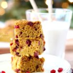 Pumpkin Pomegranate Blondies