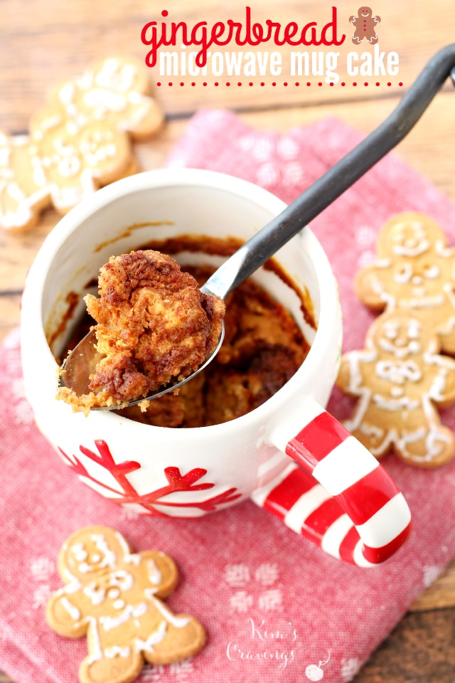 Gingerbread Microwave Mug Cake- cakey, soft, full of comforting flavours, and the only things standing between you and this vegan cake are 8 ingredients and 5 minutes of your time. It's that simple!