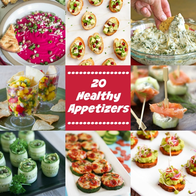 Enjoy this roundup of 20 Healthy Appetizers for the perfect party and most importantly have a fun, safe New Year's Eve celebration!