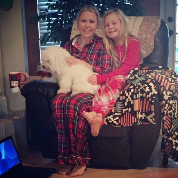 Madelyn and Kim- Christmas 2015