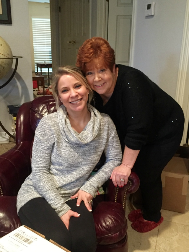 Mom and Kristin- Christmas 2015