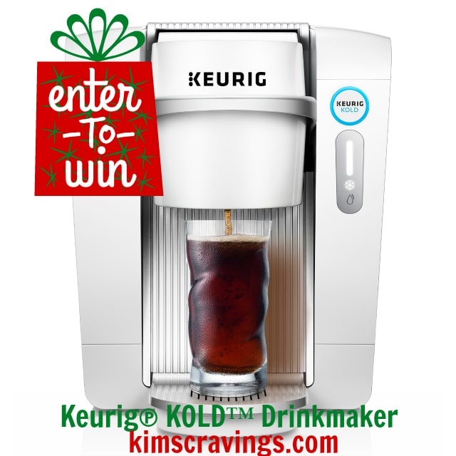 Keurig® has so graciously offered to let me gift one of my lovely readers with their own Keurig® KOLD™ Drinkmaker, valued at 369.99!