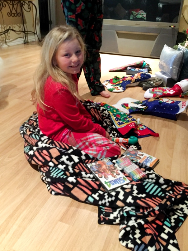 madelyn with stocking- Christmas 2015