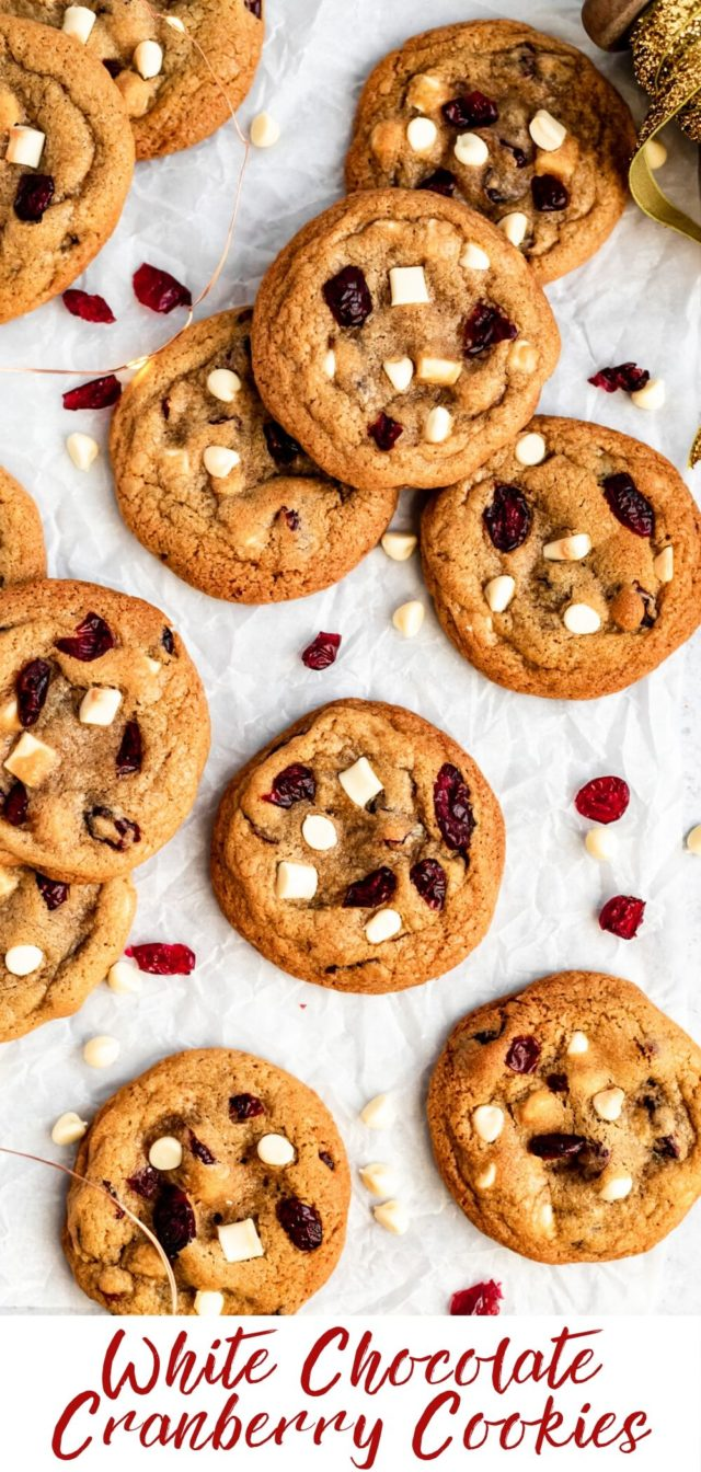 how to make white chocolate cranberry cookies