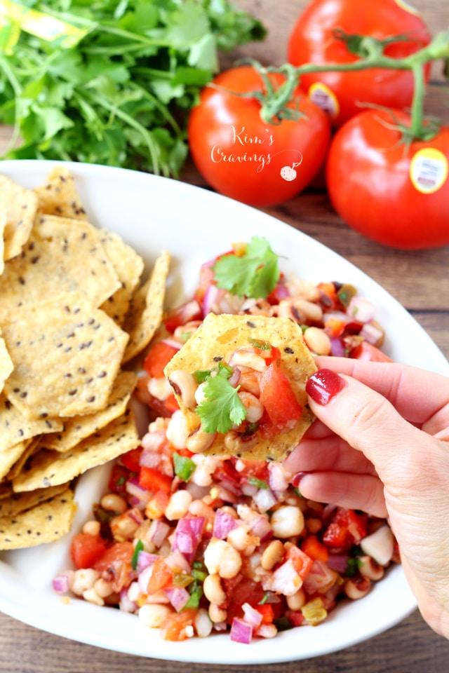Shrimp Avocado Salsa - Kim's Cravings