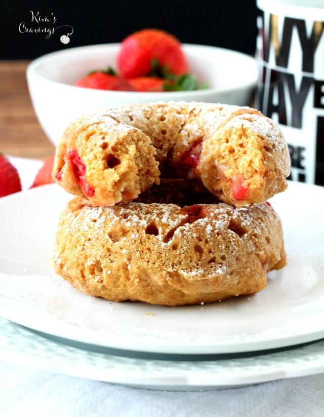 A healthier take on the breakfast favorite, Skinny Strawberry Donuts are the perfect way to wake up! So quick and easy, deliciously tender and studded with sweet strawberries... I betcha can't eat just one.
