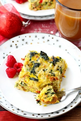 This Light Sausage Spinach Egg Casserole is the perfect make-ahead meal. Comforting and flavorful, this dish will fuel you through a busy day!