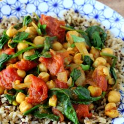 Hearty and saucy with a kick of spice, you're going to want to whip up my super simple chana masala recipe again and again! (vegan & gluten-free)