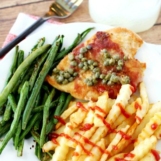 Prosciutto-Wrapped Chicken with Lemon Caper Sauce