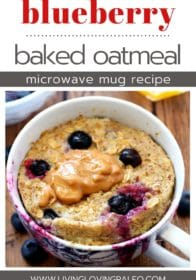 easy microwave baked oatmeal in a mug