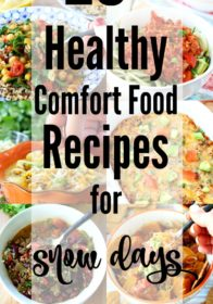 Whether it's steamy soup or a cozy warm casserole you're craving, there's something for everyone in this collection of over 20 Healthy Comfort Food Recipes for Snow Days. Enjoy!