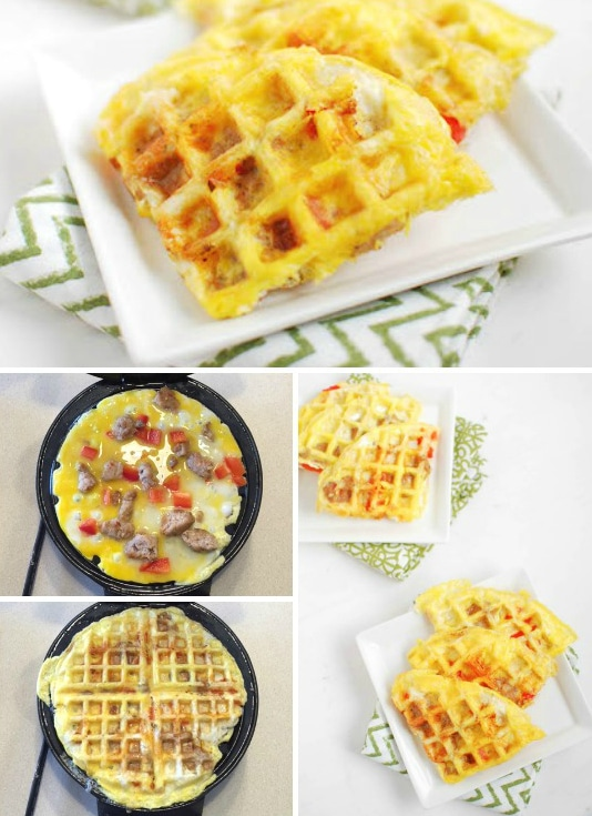 Egg Waffles- Eggs in one minute with no dirty pan to clean up... yes, please!