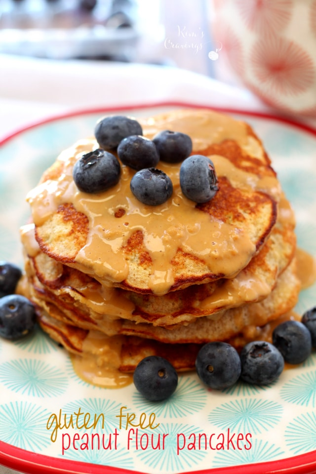 These gluten-free Peanut Flour Pancakes not only have a fabulous texture and flavor, they're also super light, yet satisfying and packed with protein.