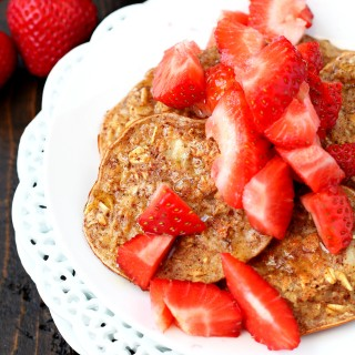 Three Ingredient Oat Pancakes for One