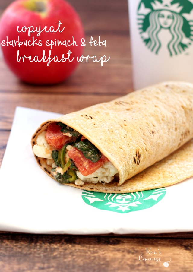 Copycat Starbucks Spinach & Feta Breakfast Wraps are my grab-n-go meal choice when I'm out and need to pick-up a quick bite. I absolutely love the warm, flavorful, satisfying option and I just had to create my own version.