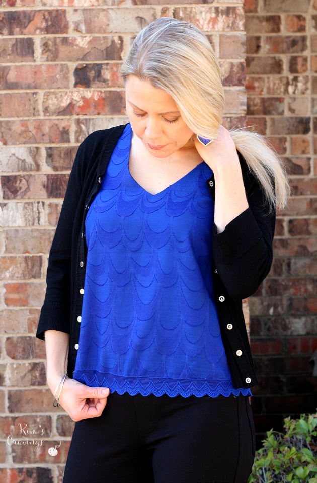 Stitch Fix- February 2016 | Leilo Scallop Lace Blouse by 41 Skies are Blue | SP | 54.00