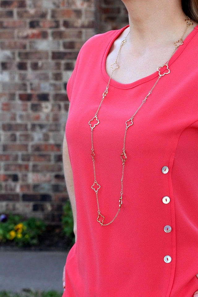 Stitch Fix- Trisha Clover Charm Layering Necklace by Bancroft | 32.00