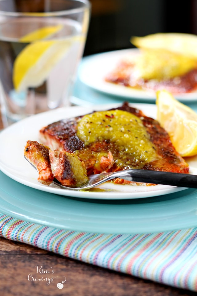 With easy preparation and incredible flavor, this Seared Salmon with Curried Pineapple is on the short list for weeknight meals that hit all my criteria: fast, healthy, filling and over-the-top tasty!