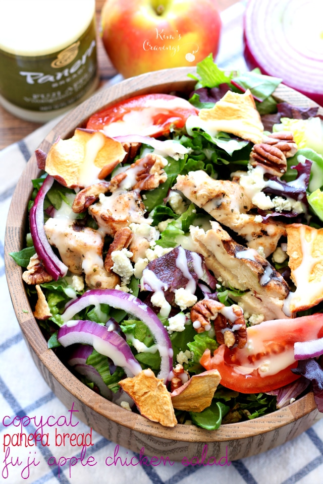 Copycat Panera Bread Fuji Apple Chicken Salad - a fresh flavorful salad that tastes even more delicious than the original!