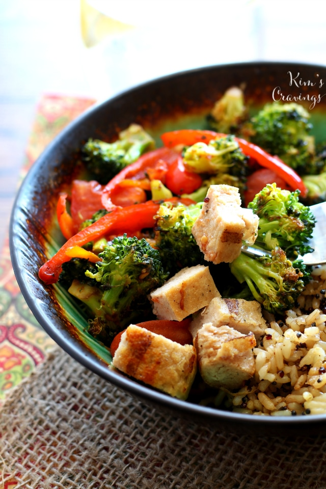 My favorite super simple stir-fry meal is packed full of veggies and protein, it's so easy, it's incredibly tasty and it can be thrown together in a flash!