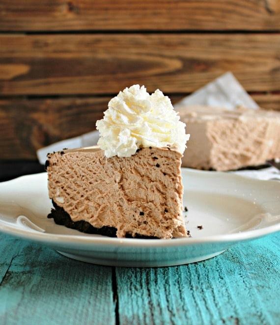 15 Cozy Hot Cocoa Dessert Recipes- Frozen Hot Chocolate Cheesecake