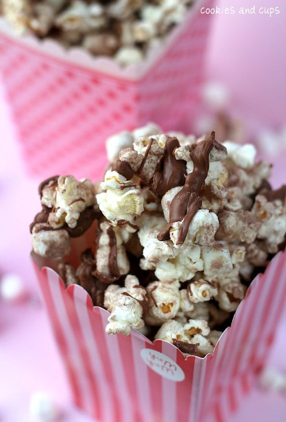 15 Cozy Hot Cocoa Dessert Recipes- Hot Chocolate Popcorn
