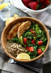 This Toasted Kale Salad with Chicken and Lemon Dijon Dressing is loaded with cozy flavor, lovely texture and nutrients. Each bite is light and crunchy with a deep satisfying flavor.