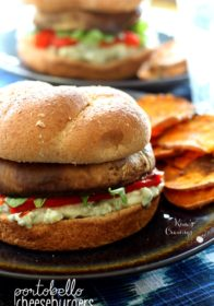 Satisfy your burger craving with meatless Portobello Cheeseburgers- a wonderful explosion of flavors and textures!