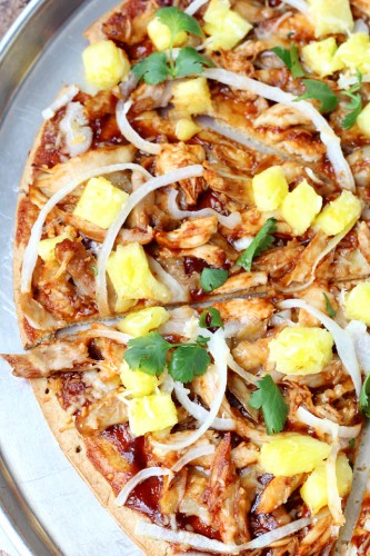 Copycat California Pizza Kitchen's Hawaiian BBQ California Pizza- super tasty and also super easy... perfect for Friday night dinners!