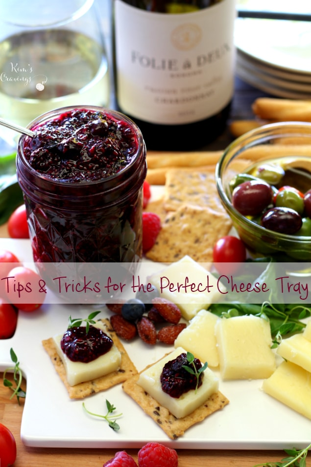 My simple cheese tray ideas and Double Berry Chia Seed Jam to make the ultimate party platter. Perfect for Easter or Mother's Day gatherings!