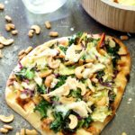 Asian Sesame Naan Pizza