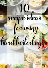 There are so many incredible hard boiled egg recipe ideas on Pinterest, which inspired me to share 10 Recipe Ideas for Using Hard Boiled Eggs.