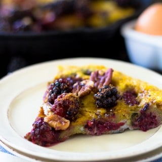 Blackberry Pecan Sweet Frittata