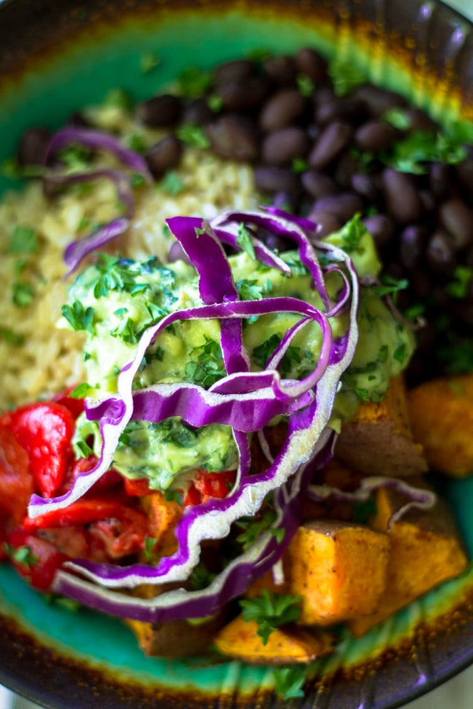 Looking for a quick, nutritious, flavorful meal? This Easy Vegetarian Buddha Bowl is ridiculously healthy, a cinch to whip up and tasty as can be!