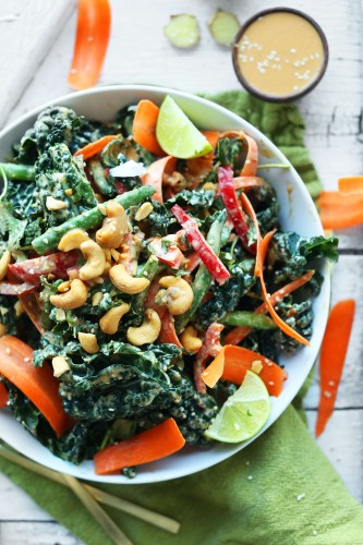 AMAZING-GINGERY-Thai-Kale-Salad-with-TONS-of-veggies-and-a-Cashew-Dressing-vegan-glutenfree-salad-healthy-kale-recipe-minimalistbaker