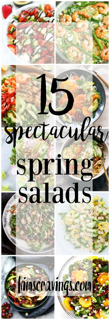 After months of roasted veggies, even favorites like butternut squash are starting to get a little old, inspiring me to share 15 Spectacular Spring Salads.