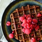 These single-serving Chocolate Protein Waffles are packed with protein, and ready in 5 minutes so you can have healthy, gluten free waffles at a moment's notice!